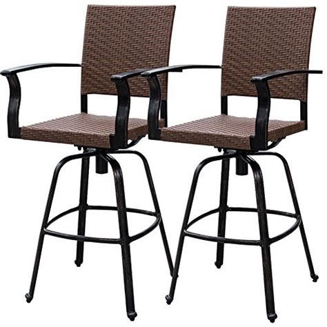 bar stool outdoor furniture outdoor patio bars amazon com