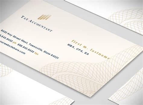 cpa business card template tax accountant and cpa professional agency business card