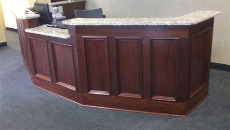shadow box bar top stone reception desk desk desk has ten inset shadow