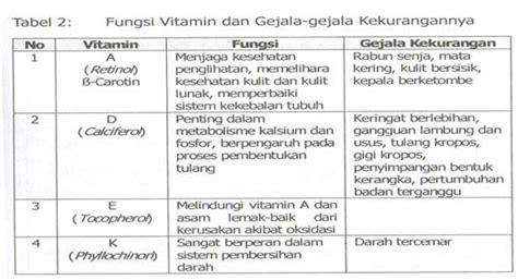 fungsi vitamin didalam tubuh