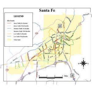 santa fe map cycling infrastructure city of santa fe new mexico