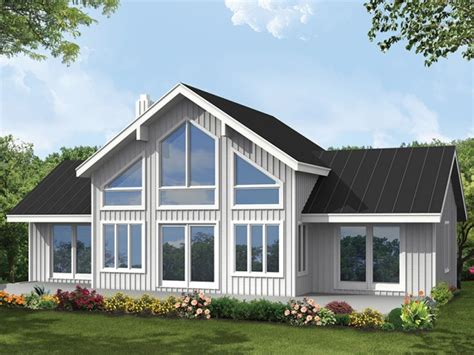 large house plan big window house plans