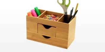Office Desk Stationery Desk Tidy Stationery Box Desk Organiser Bamboo Office Supplies
