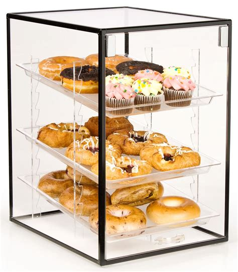 countertop bakery display hinged door display