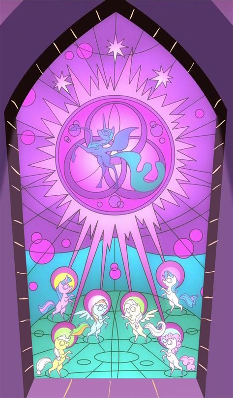 mlp nightmare moon stained glass stained glass window of the ponies using the elements of