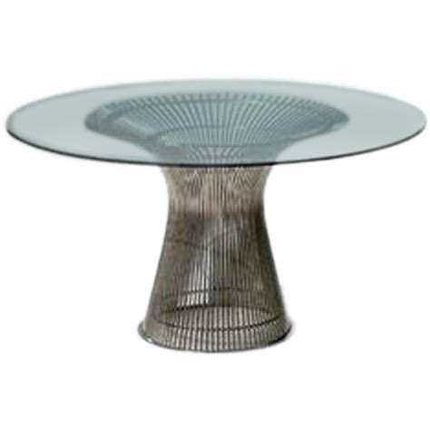 vintage nickel wire dining table by warren platner for