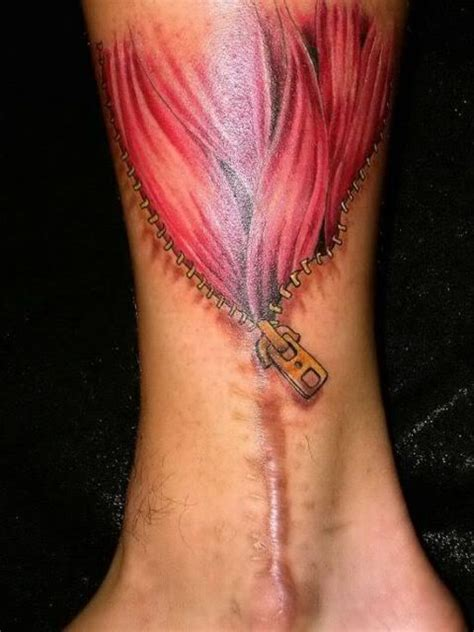 scarred tattoo on tattoos zipper la ink