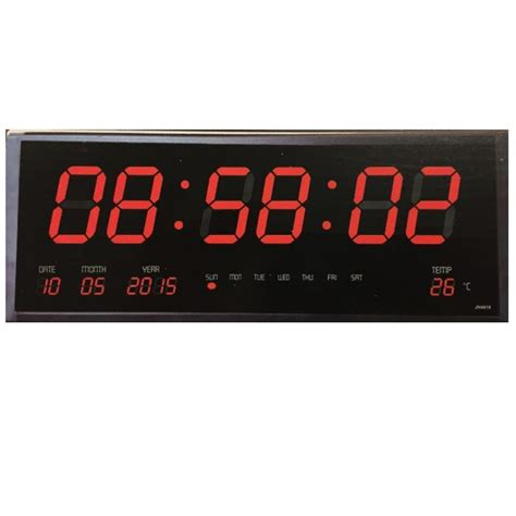wall clock digital digital wall clock with time temperature calender big