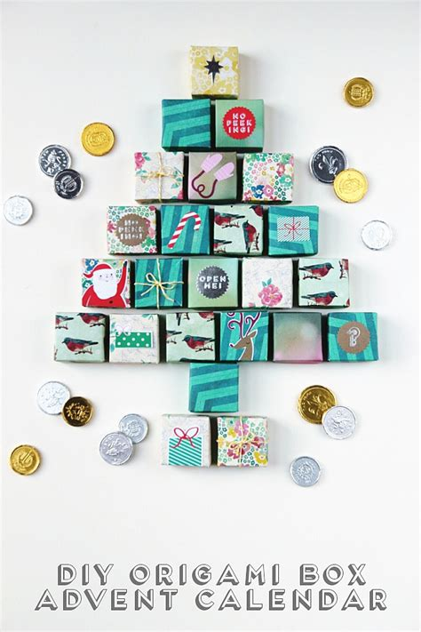 Origami Advent Calendar - diy origami box advent calendar gathering