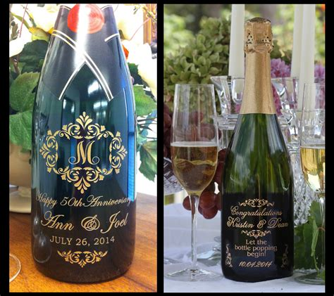 custom engraved chagne california moet chandon