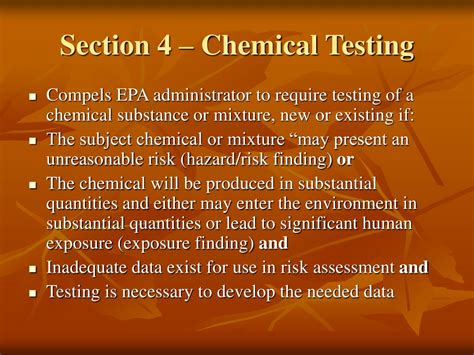 tsca section 4 ppt introduction to tsca powerpoint presentation id 367631