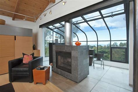 Glass Enclosed Fireplace | noted berkeley designer cheng guided renovation of