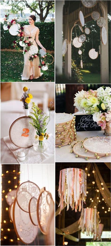 25 Unique Embroidery Hoops Boho Wedding Decor Ideas   Boho