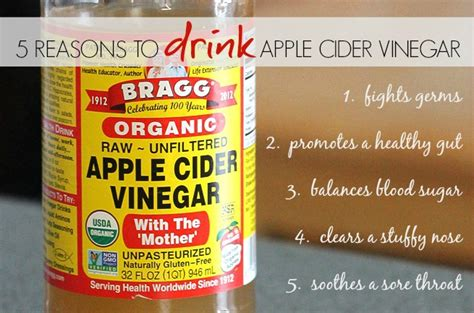 Will Vinegar Put You Through Detox With Taking Xanxa by 5 Reasons To Drink Apple Cider Vinegar