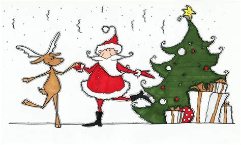 rocking around the christmas tree drawing by maria varga drane