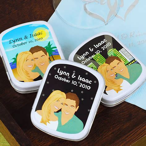 Wedding Favors Tins by Personalized Tins As Wedding Favors Weddings Engagement