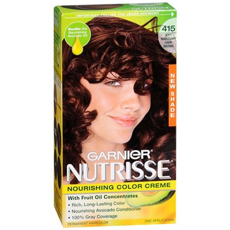 nutrisse nourishing color cream soft mahogany dark brown garniernutrisse nourishing color creme with fruit oil