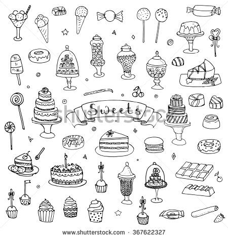 doodle meaning trees doodle set vector stock vector 369541973