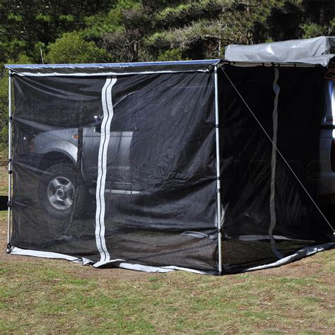awning for tent trailer new mosquito net mesh for 2 5m awning roof top tent cer trailer 4wd ebay
