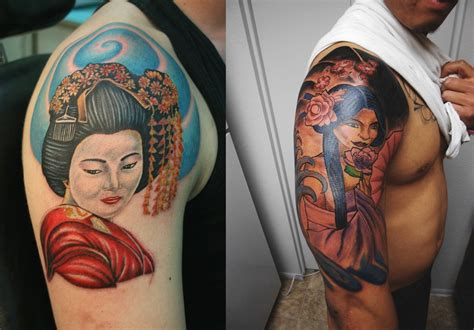 geisha tattoo designs beautiful geisha tattoos designs