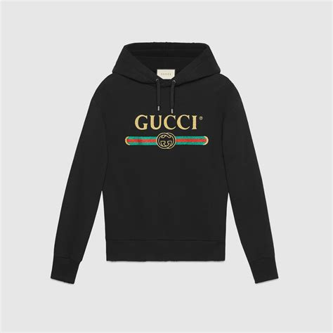 Hoddie Gucci embroidered cotton sweatshirt with gucci logo gucci new