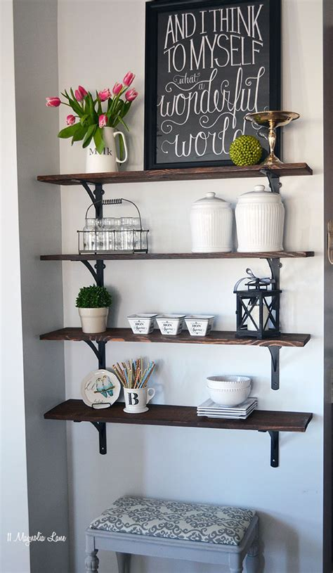 How To Stain A Shelf by How To Build Open Stained Shelves 11 Magnolia