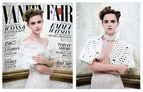 Vanity Fair Controversy by Watson S Breast Backlash Controversy Feminism In