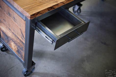 Reclaimed Wood & Steel Reception Desk ? Real Industrial