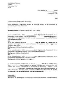 Déclaration D Appel Modele modele de lettre d appel a un jugement andallthingsdelicious