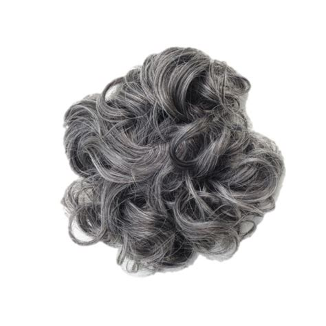 salt and pepper hair pieces for women salt and pepper hair extentions scrunchie hair extension