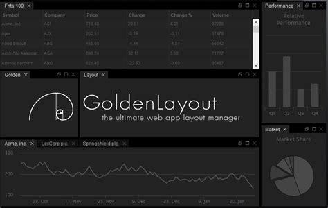 Golden Layout Js | weekly web design development news collective 132