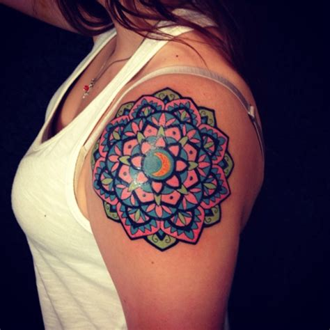 colorful tattoos for females 38 colored mandala tattoos collection