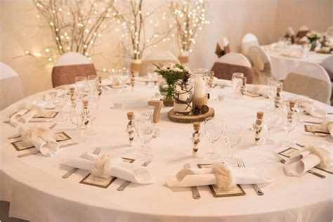 winter wedding table decor winter wedding at chateau de montrouge