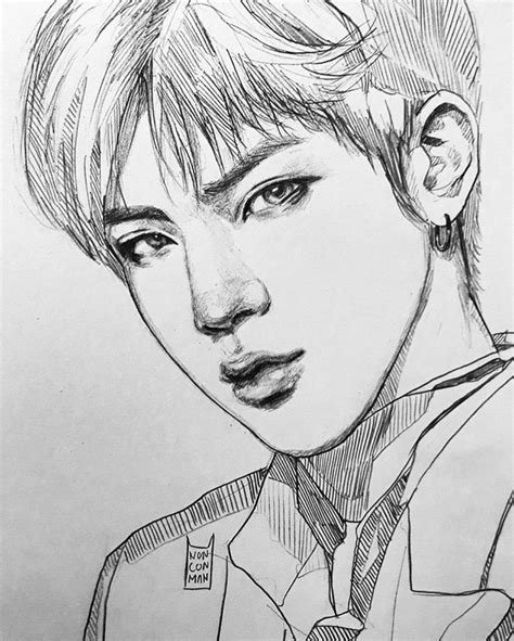 Kpop Sketches by Pin By аня On Bts Bts Fanart And Kpop