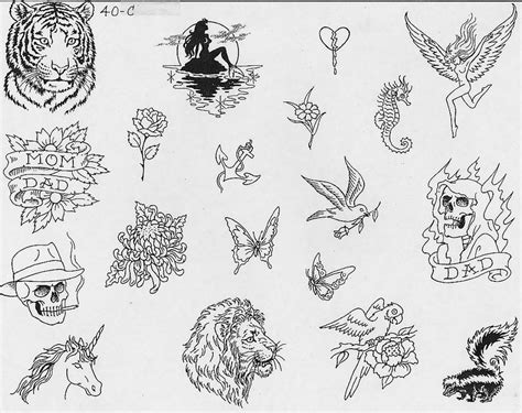 printable tattoo sheets pictures to pin on pinterest