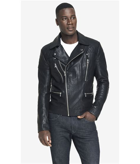 cloth moto jacket lyst express minus the leather asymmetrical zip moto