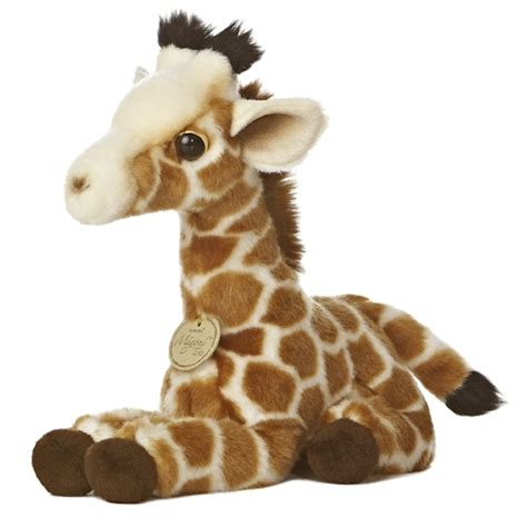 realistic stuffed giraffe calf 10 inch plush animal by