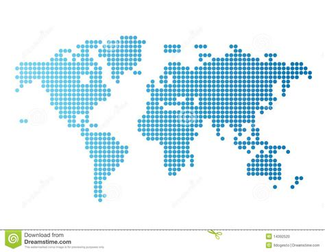 world dot map world map of blue dots stock vector image 14392520