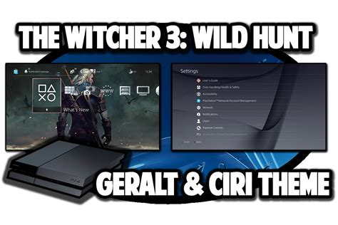 ps4 themes witcher 3 ps4 themes the witcher 3 wild hunt geralt and ciri