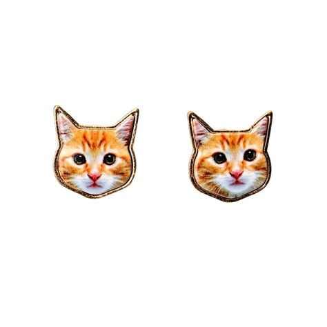Home Design Stores Utah orange tabby cat earrings