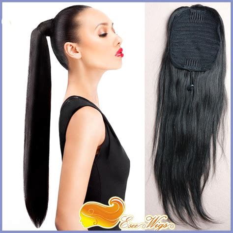 how to use ponytail hair extensions free shipping 6a hair