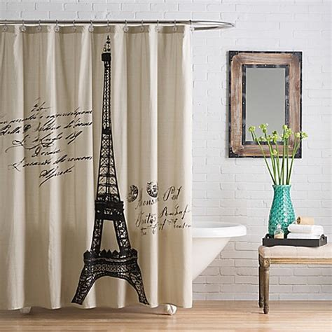 bedbathandbeyond shower curtains anthology paris cotton shower curtain bed bath beyond