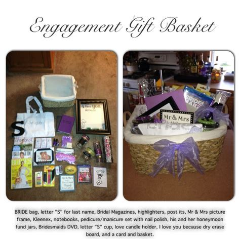 Engagement Gift Basket I made for my Brother and my soon