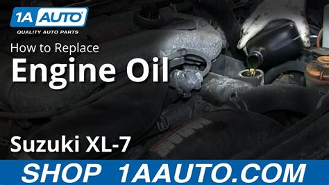 service   engine oil change suzuki xl  youtube