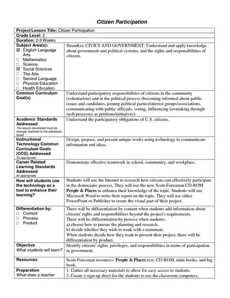 standard lesson plan template 1000 images about lesson plan template ideas on