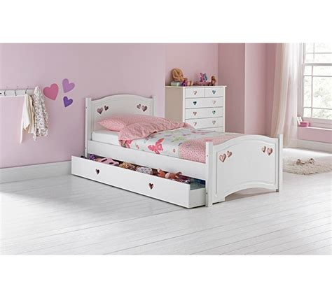 argos bed frame buy single bed frame with drawer white at argos co