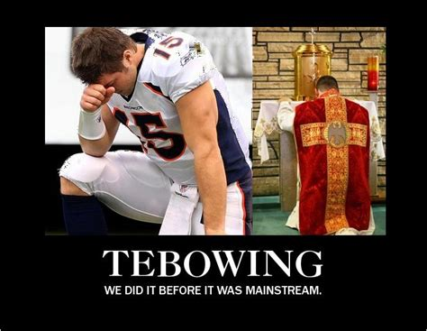 Tebowing Meme - tebowing we did it before it was mainstream the