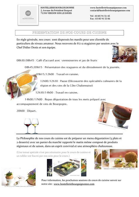 cours de cuisine chalon sur saone cours de cuisine chalon sur saone de