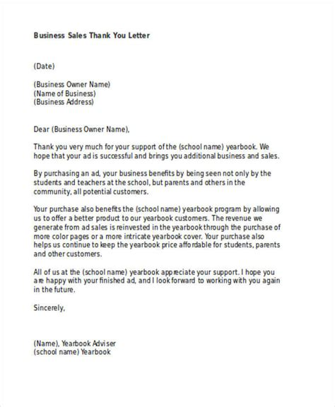 thank you letter for business sle 69 thank you letter exles