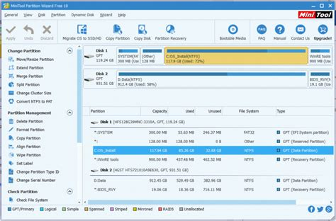 format gpt tool minitool partition wizard 10 extends gpt exfat support
